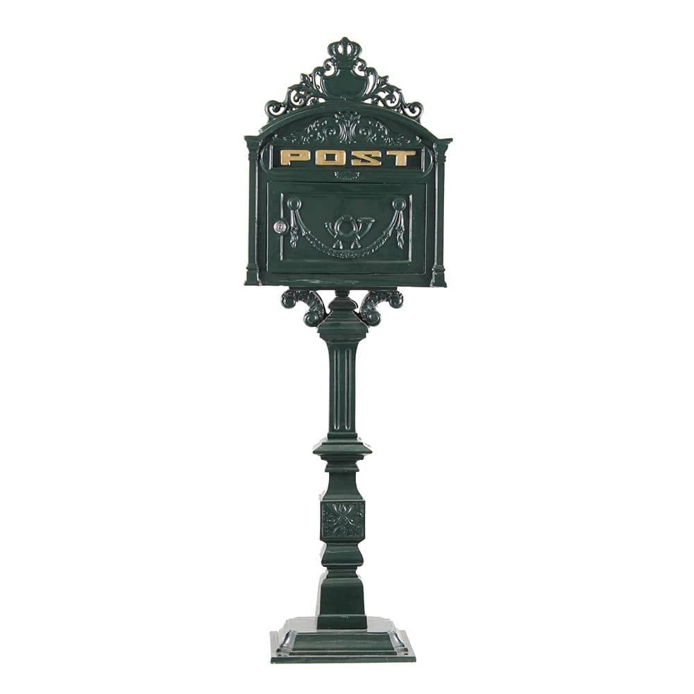 Caixa de Correio Pedestal Greenway Verde em Metal - 117x38 cm