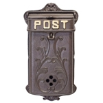 Caixa de Correio Post Greenway em Metal - 85x42 cm