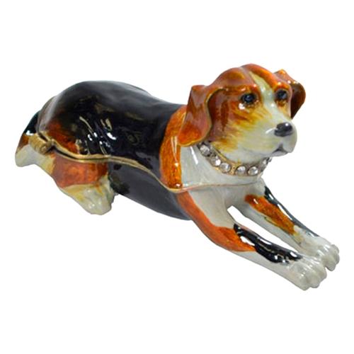 Caixa Decorativa Dog em Metal - 8x4 cm
