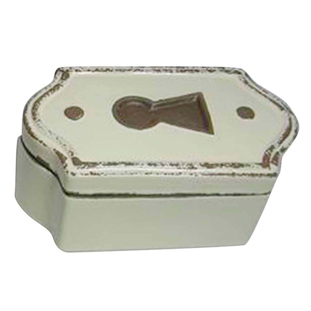 Caixa Decorativa Le Cle Ondulada Creme em Cerâmica - Urban - 17x10 cm