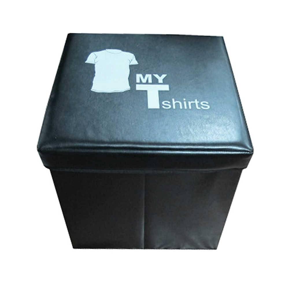Caixa Desmontável My Tshirt Preta em PU - Urban - 40x40 cm