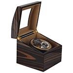 Caixa Giratório p/ 2 Relógios Automática Ebony Fullway - 19x19 cm