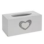 Caixa para Lenços Coração Branco - 24x13 cm