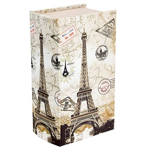 Caixa de Lenços em Seda Eiffel Carimbos Oldway - 29x17x11cm