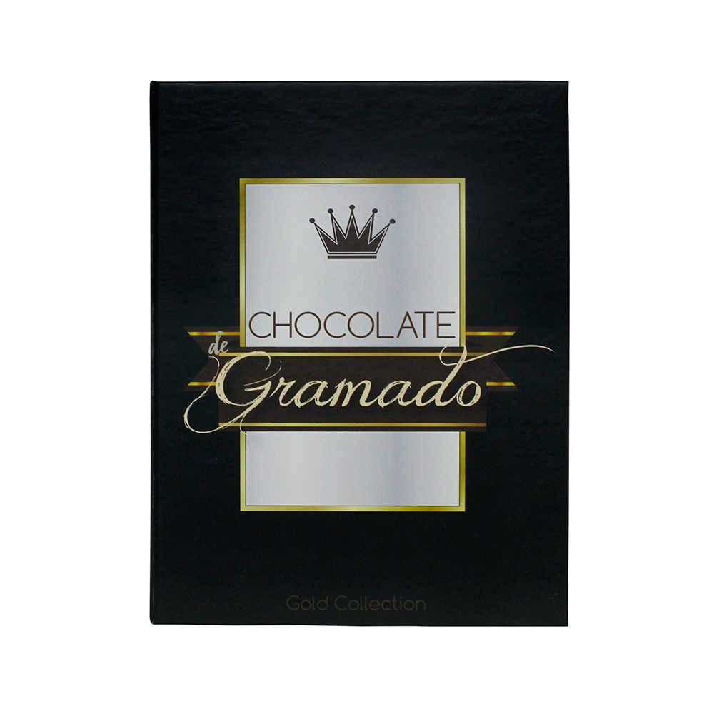 Caixa Livro Chocolate de Gramado Preto Fullway em Madeira - 20x16 cm