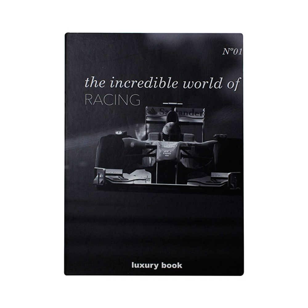 Caixa Livro Incredible World Of Racing Preta Fullway em Madeira - 36x27 cm