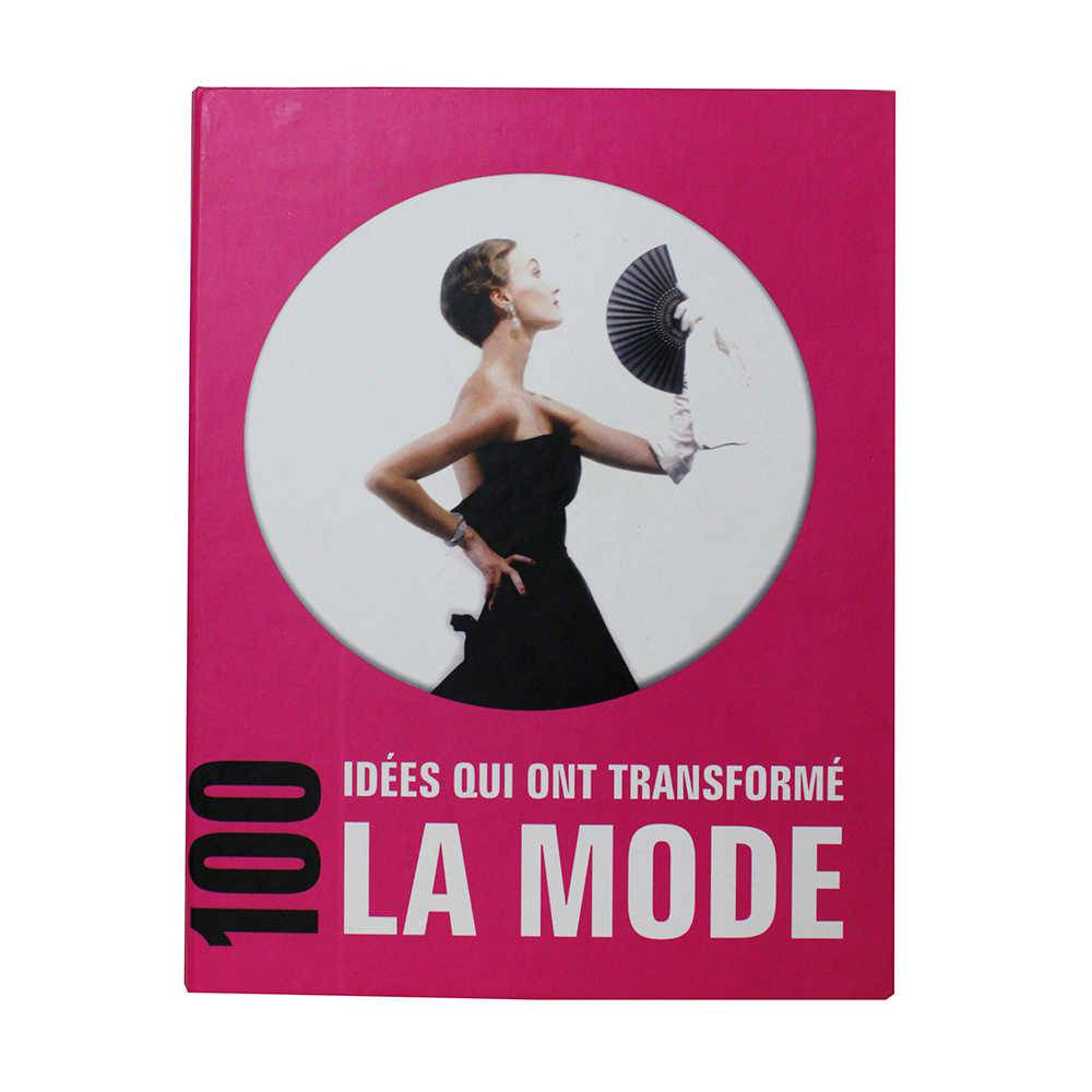 Caixa Livro La Mode Fullway Rosa em Madeira - 26x20 cm