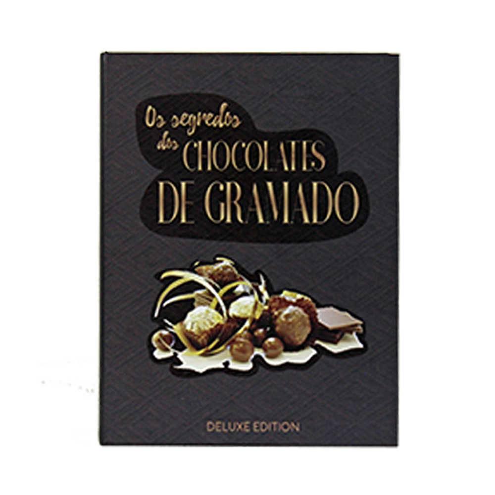 Caixa Livro Os Segredos dos Chocolates de Gramado Preto Fullway em Madeira - 20x16 cm