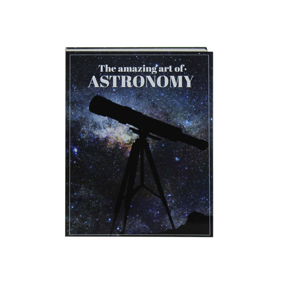 Caixa Livro The Amazing Art Of Astronomy Preto Fullway em Madeira - 26x20 cm