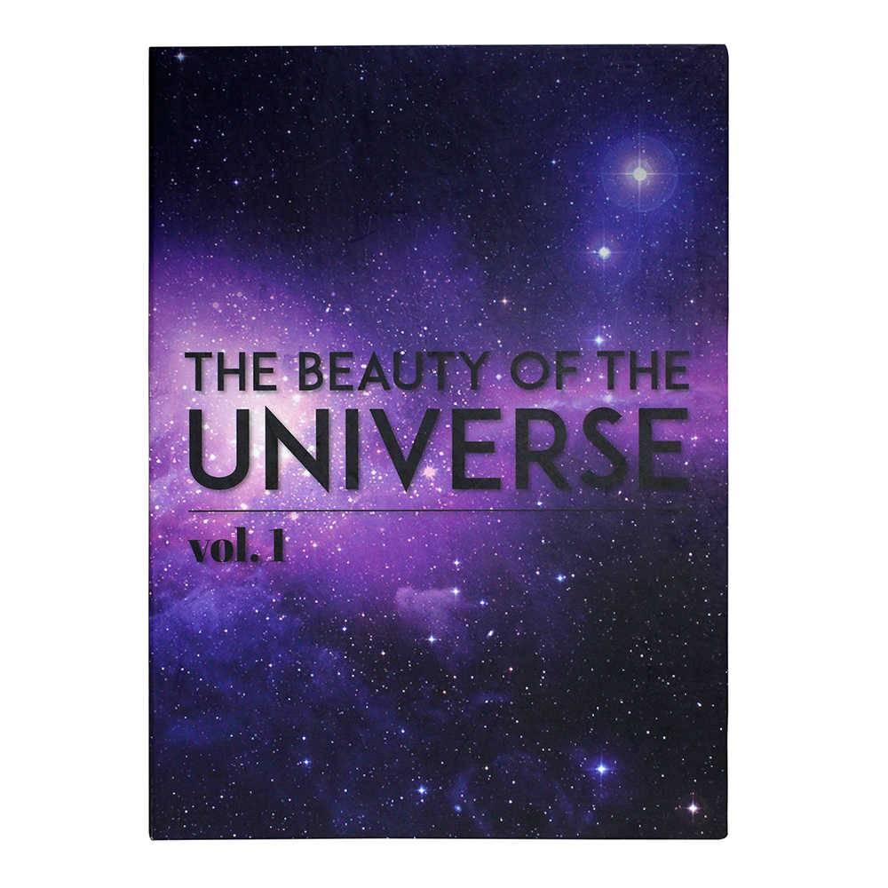 Caixa Livro The Beauty Of The Universe Roxo Fullway em Madeira - 36x27 cm