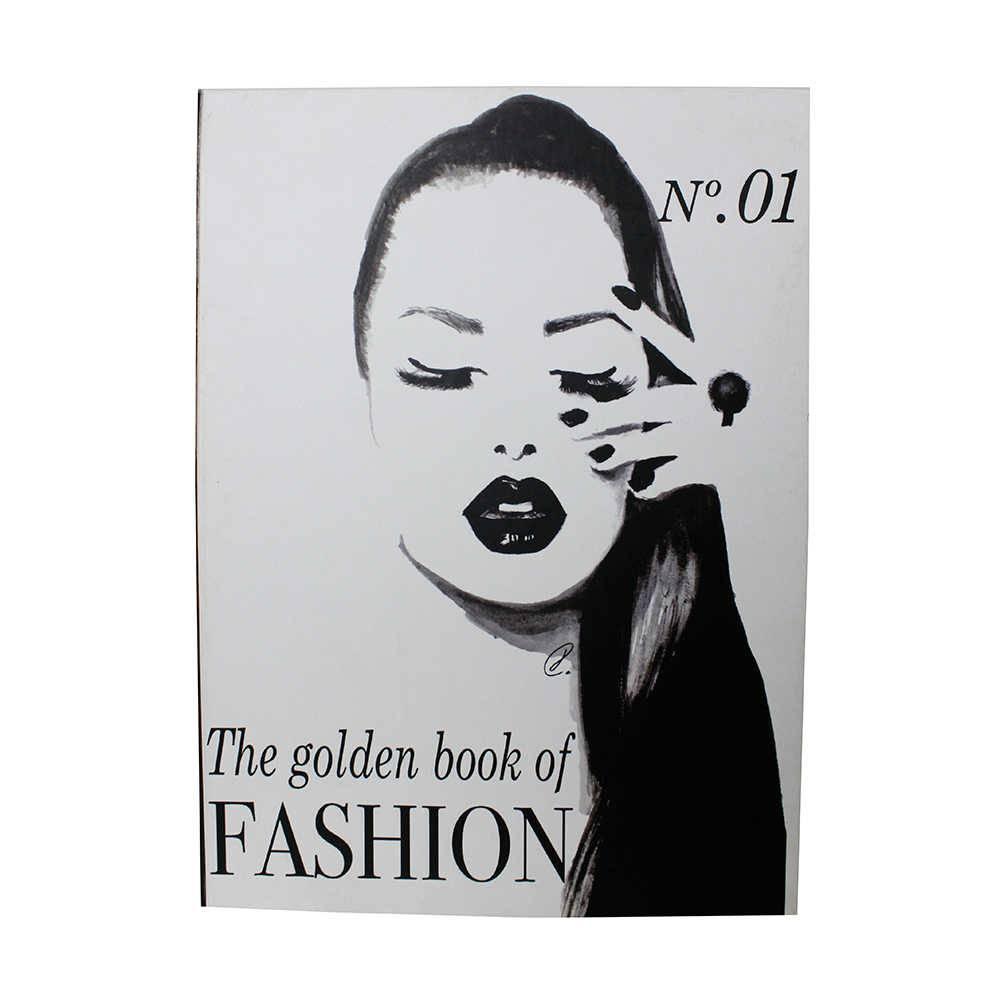 Caixa Livro The Golden Book of Fashion Fullway Branco e Preto em Madeira - 36x27 cm