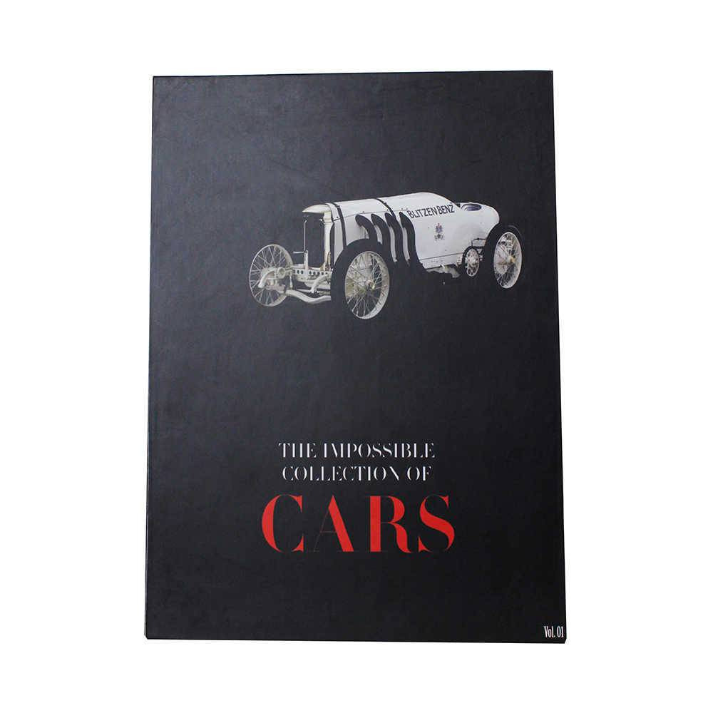 Caixa Livro The Impossible Collection of Cars Fullway Preto em Madeira - 36x27 cm