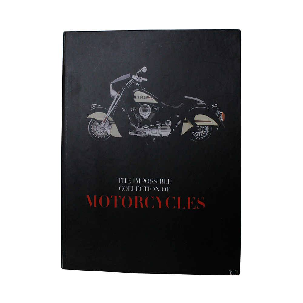 Caixa Livro The Impossible Collection of Motorcycles Fullway Preto em Madeira - 36x27 cm