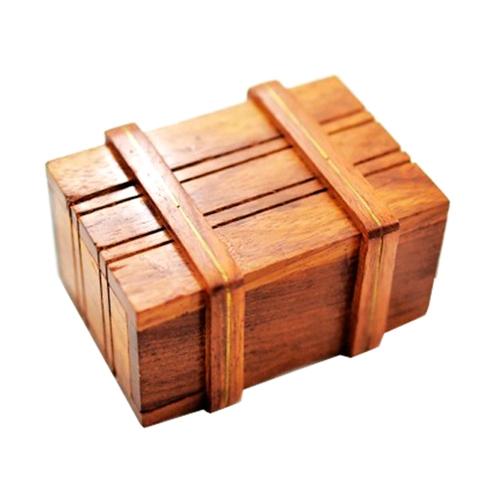 Caixa Mágica Marrom em Madeira - 5,5x4,5 cm