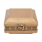 Caixa Porta-Joias Turquia Pequena Ouro Envelhecido em Metal