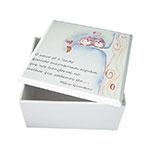 Caixa Quadrada Corujas no Galho em MDF c/ Tampa - 14,5x7,5 cm