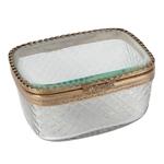 Caixa Realeza Oval em Metal - 13x6 cm