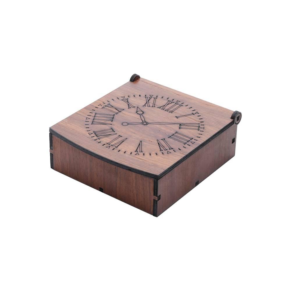 aacdbb766f1 Caixa para Relógio 4 Divisórias WoordArt em Madeira - Compre Porta ...