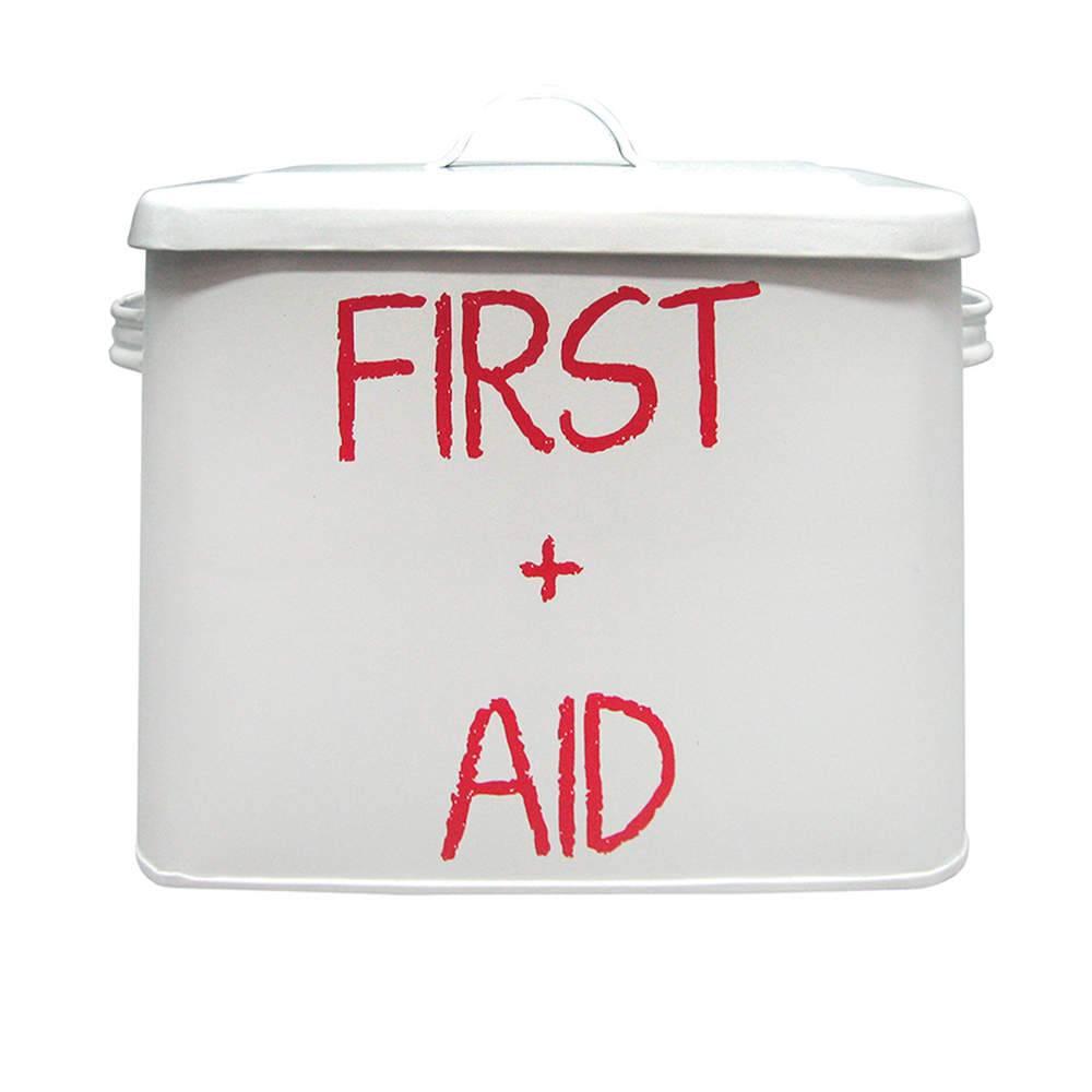 Caixa de Remédios First Aid Branca em Metal - Urban - 24x14 cm