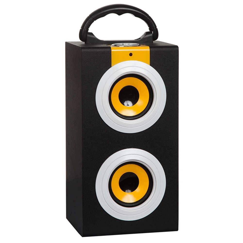 Caixa de Som Colored Speakers Amarelo em MDF - Urban - 27x14 cm