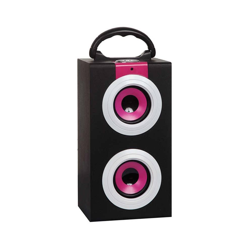 Caixa de Som Colored Speakers Pink em MDF - Urban - 27x14 cm