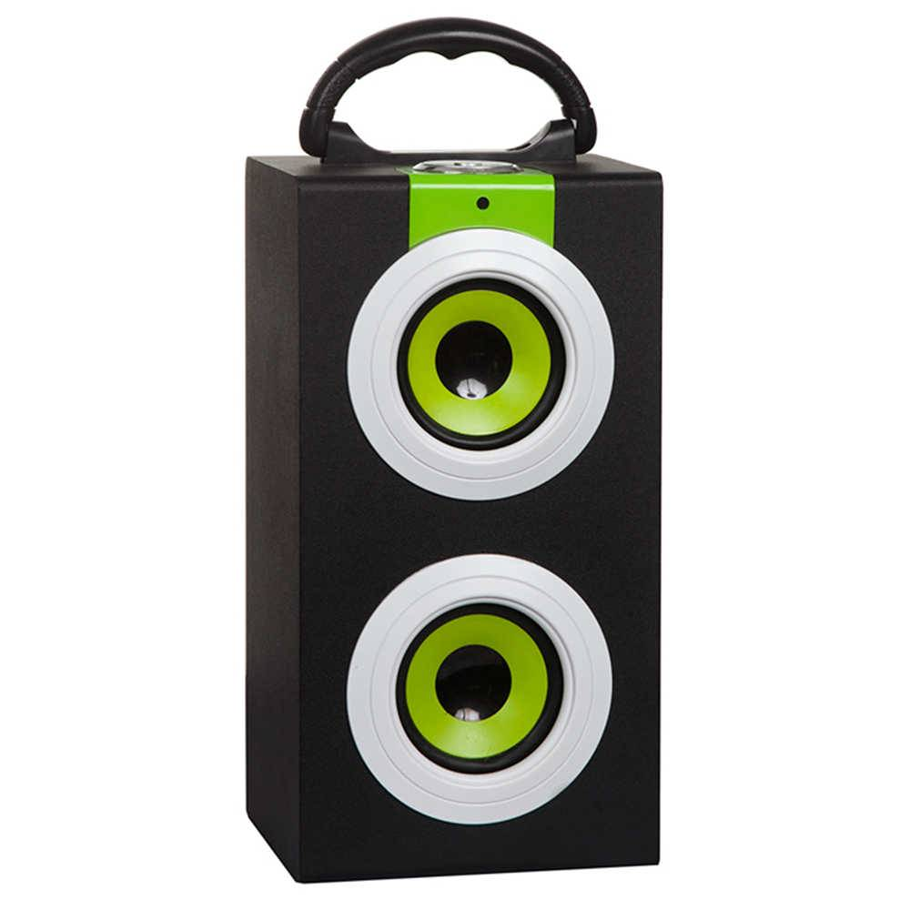 Caixa de Som Colored Speakers Verde em MDF - Urban - 27x14 cm