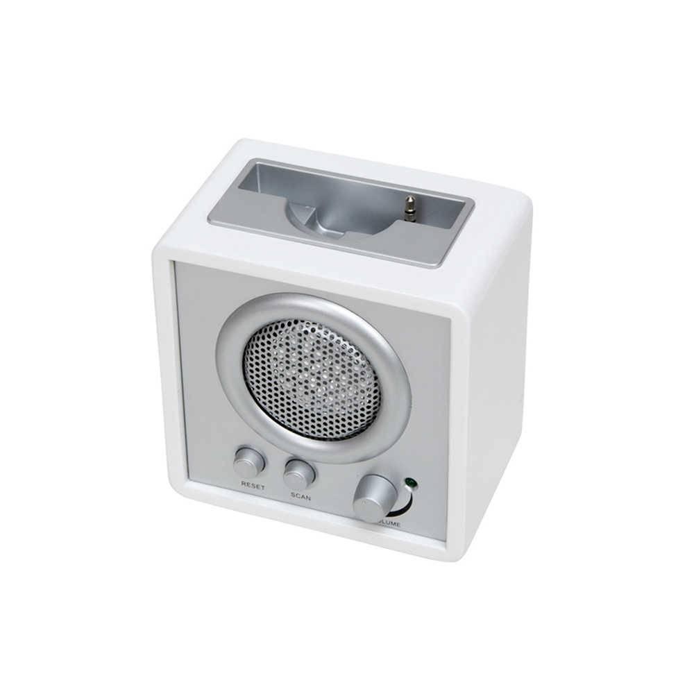 Caixa de Som Shinning Cube Branca com USB - Urban - 11x7,5 cm