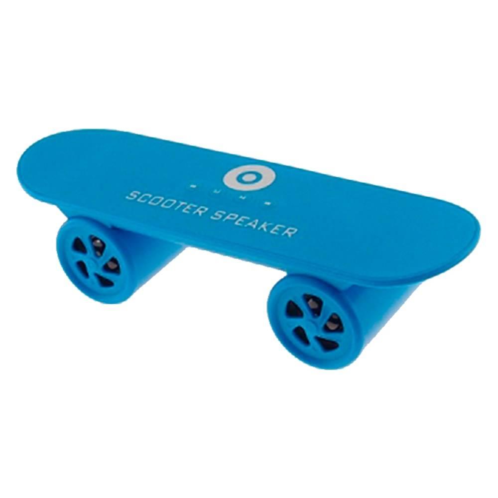 Caixa de Som Skate Azul - FM/ Bluetooth/ USB - 25x8 cm