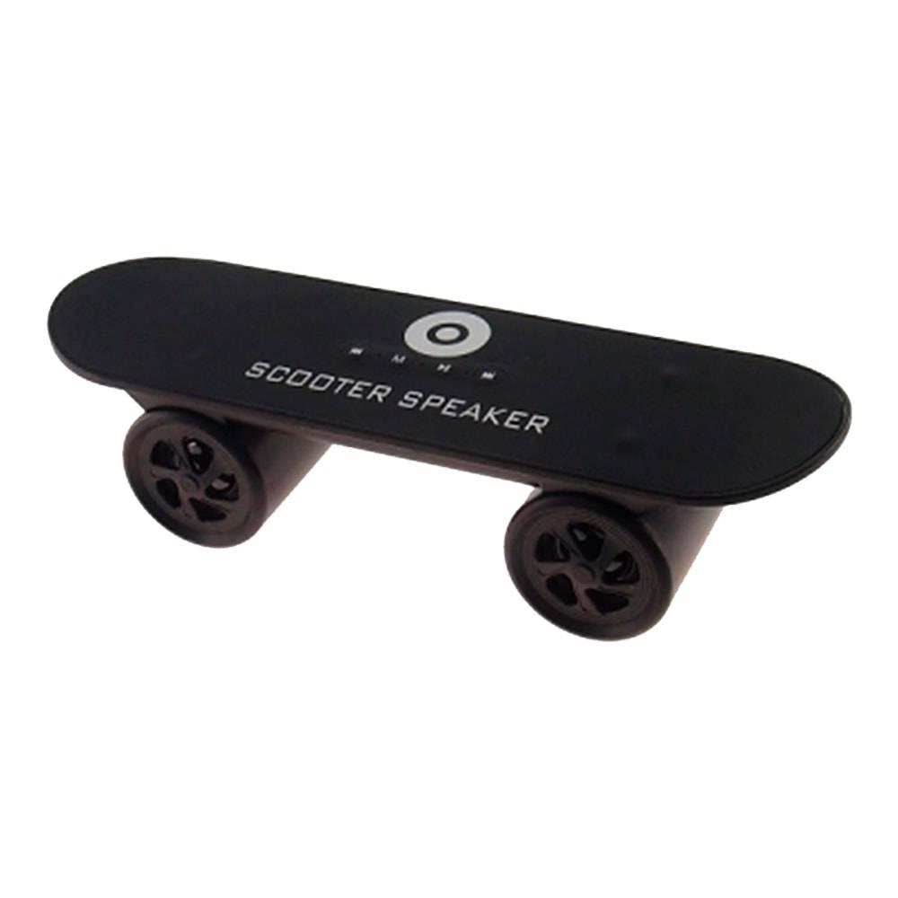 Caixa de Som Skate Preto - FM/ Bluetooth/ USB - 25x8 cm