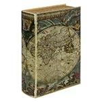 Caixa para Vinho - 2 Garrafas - Mapa Mundi Oldway em Madeira - 42x28 cm