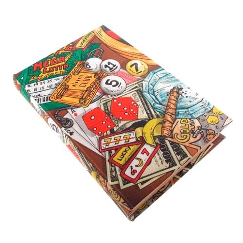 Caixa Vintage Poker para Jogos em MDF - 33x22 cm