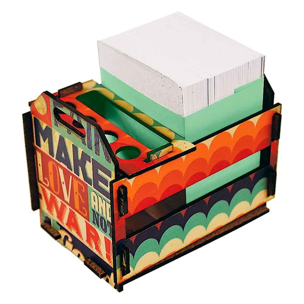 Caixotinho Make Love - Carpe Diem - Colorido em MDF - 12x11 cm