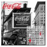 Calendário Magnético Coca-Cola Landscape City Bar em MDF - Urban - 40x40 cm
