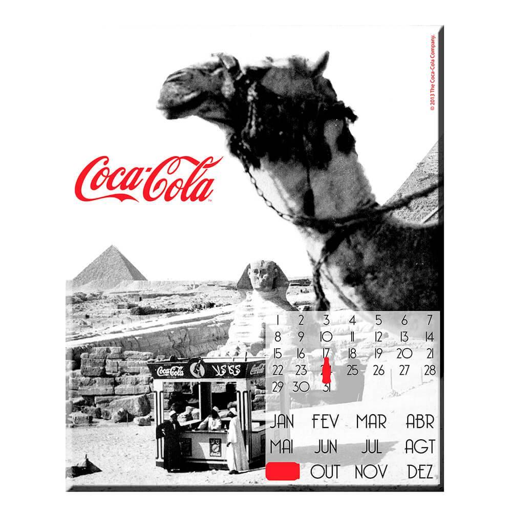 Calendário Magnético Coca-Cola Landscape Egito em MDF - Urban - 40x40 cm
