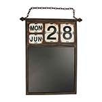 Calendário com Quadro Negro em Metal - 88x55 cm