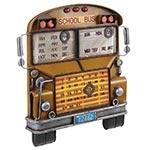Calendário School Bus Amarelo Oldway em Metal