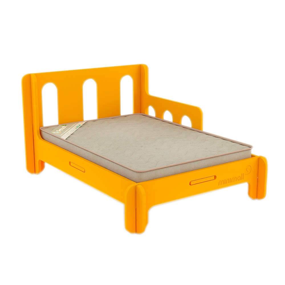 Cama para Pet BabySlip Amarela Média em MDF - 79x59 cm