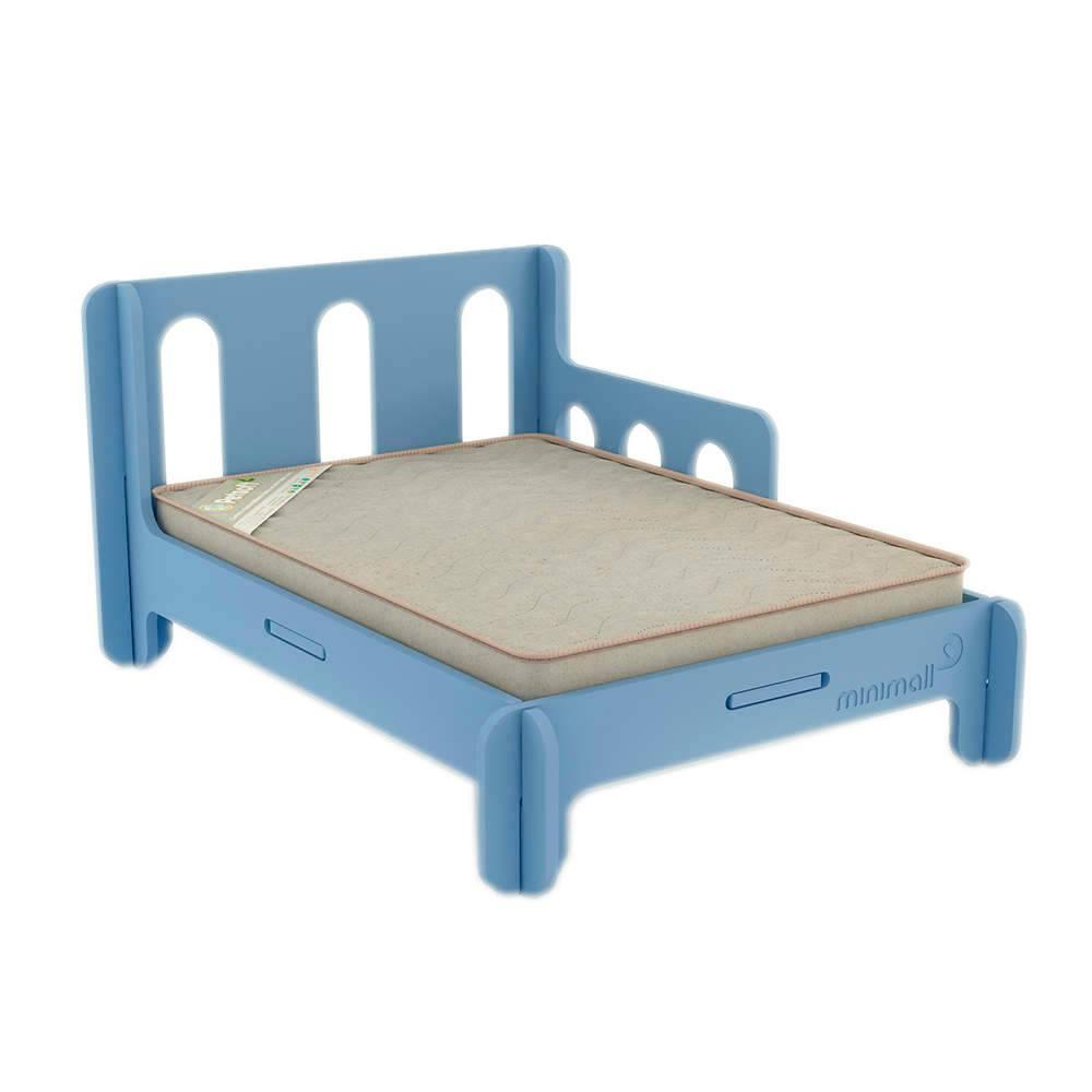 Cama para Pet BabySlip Azul Média em MDF - 79x59 cm