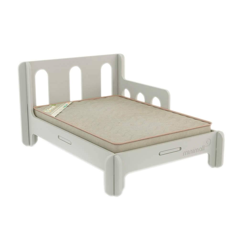Cama para Pet BabySlip Cinza Grande em MDF - 112x82 cm