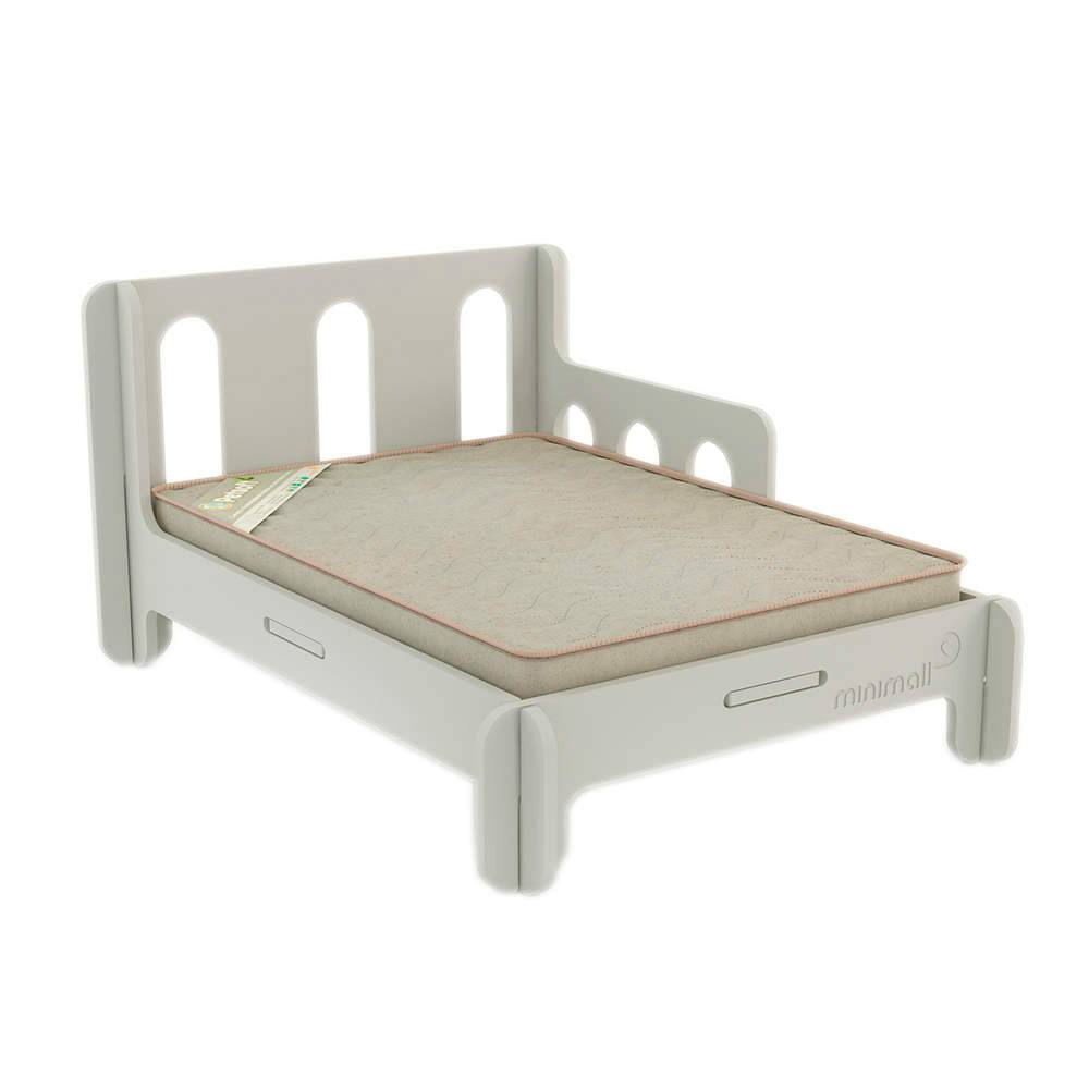 Cama para Pet BabySlip Cinza Pequena em MDF - 58x43 cm