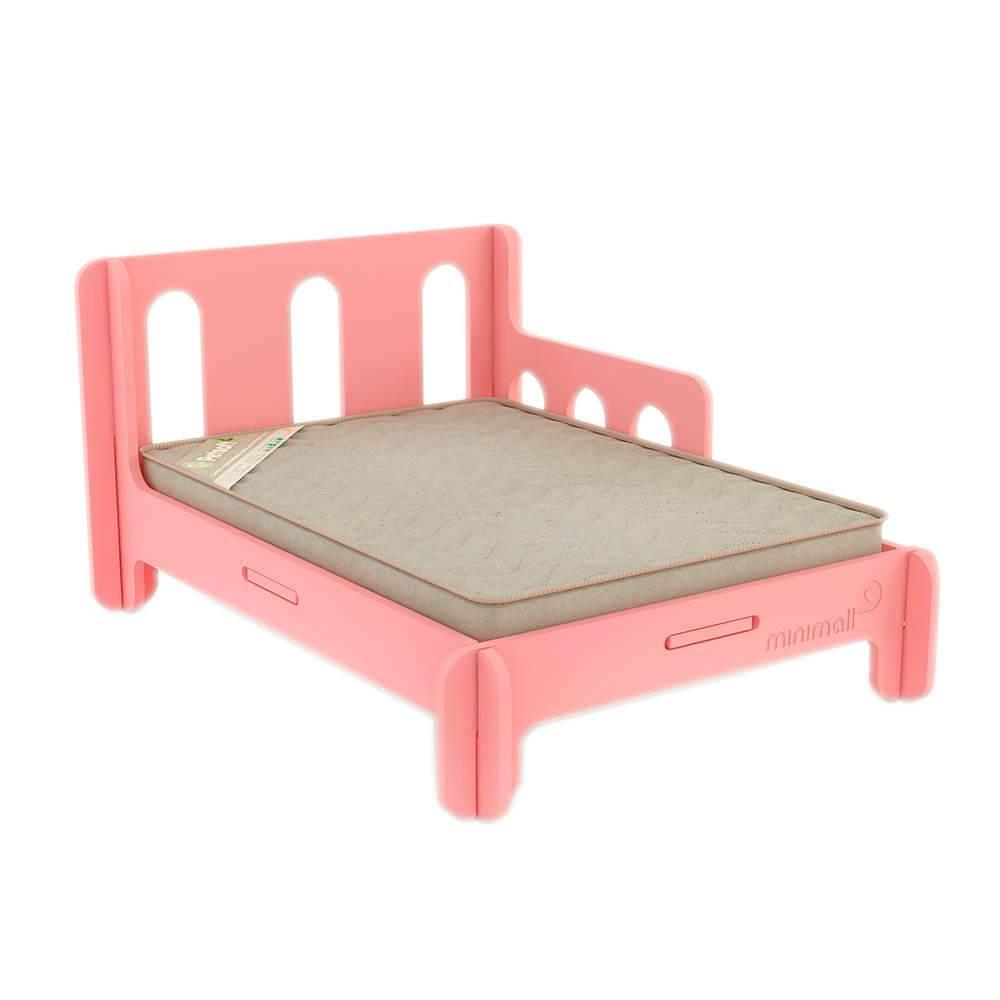 Cama para Pet BabySlip Rosa Média em MDF - 79x59 cm