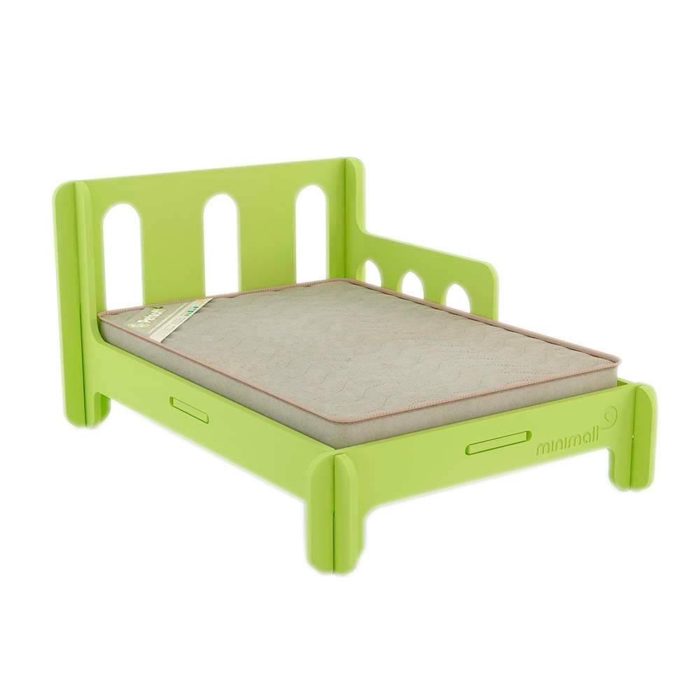 Cama para Pet BabySlip Verde Grande em MDF - 112x82 cm