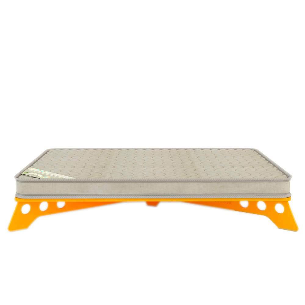 Cama para Pet PetSlim Amarela Grande em MDF - 105x73 cm
