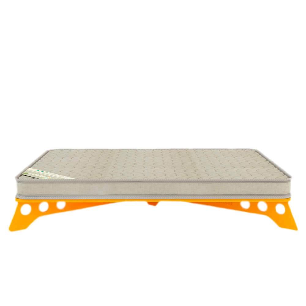 Cama para Pet PetSlim Amarela Pequena em MDF - 53x37 cm
