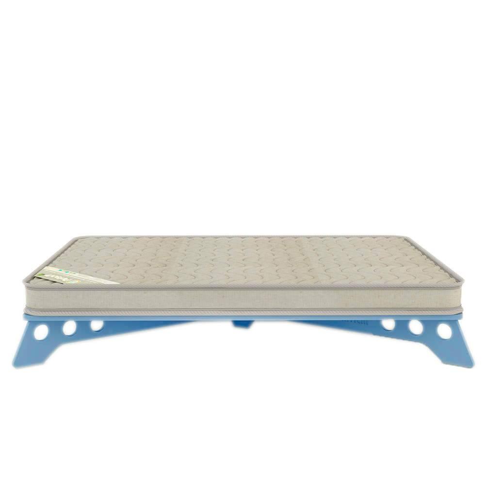 Cama para Pet PetSlim Azul Média em MDF - 74x52 cm