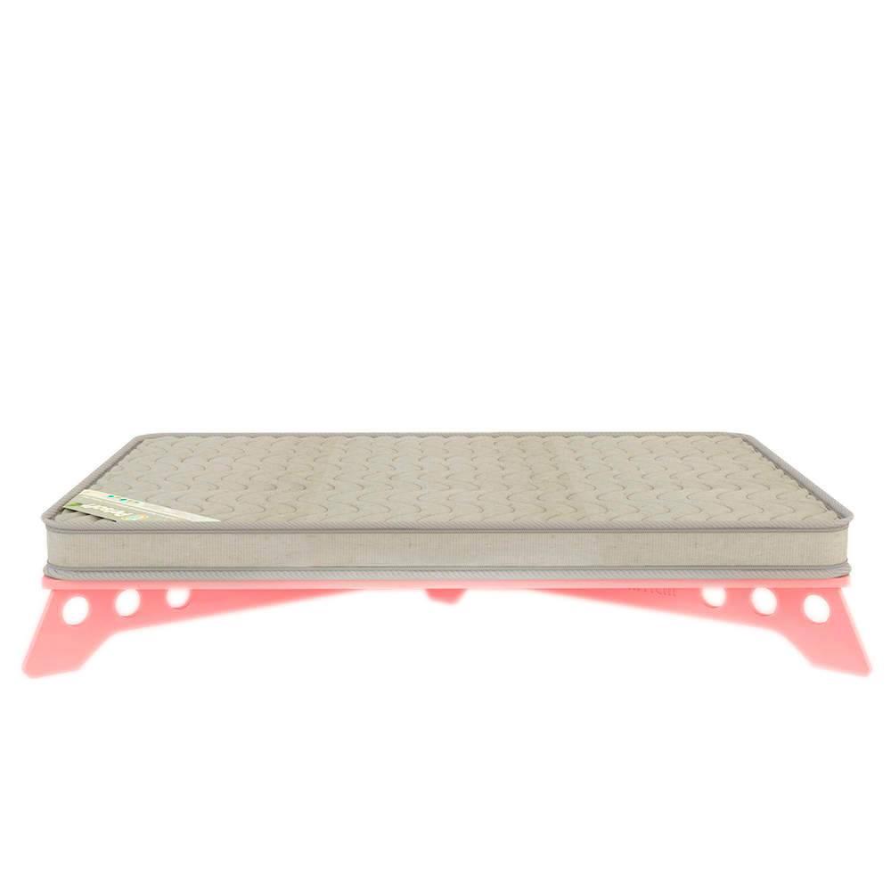 Cama para Pet PetSlim Rosa Pequena em MDF - 53x37 cm