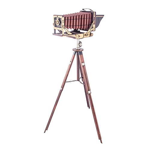 Câmera Fotográfica Grande Retrô Vintage Oldway - 141x82 cm