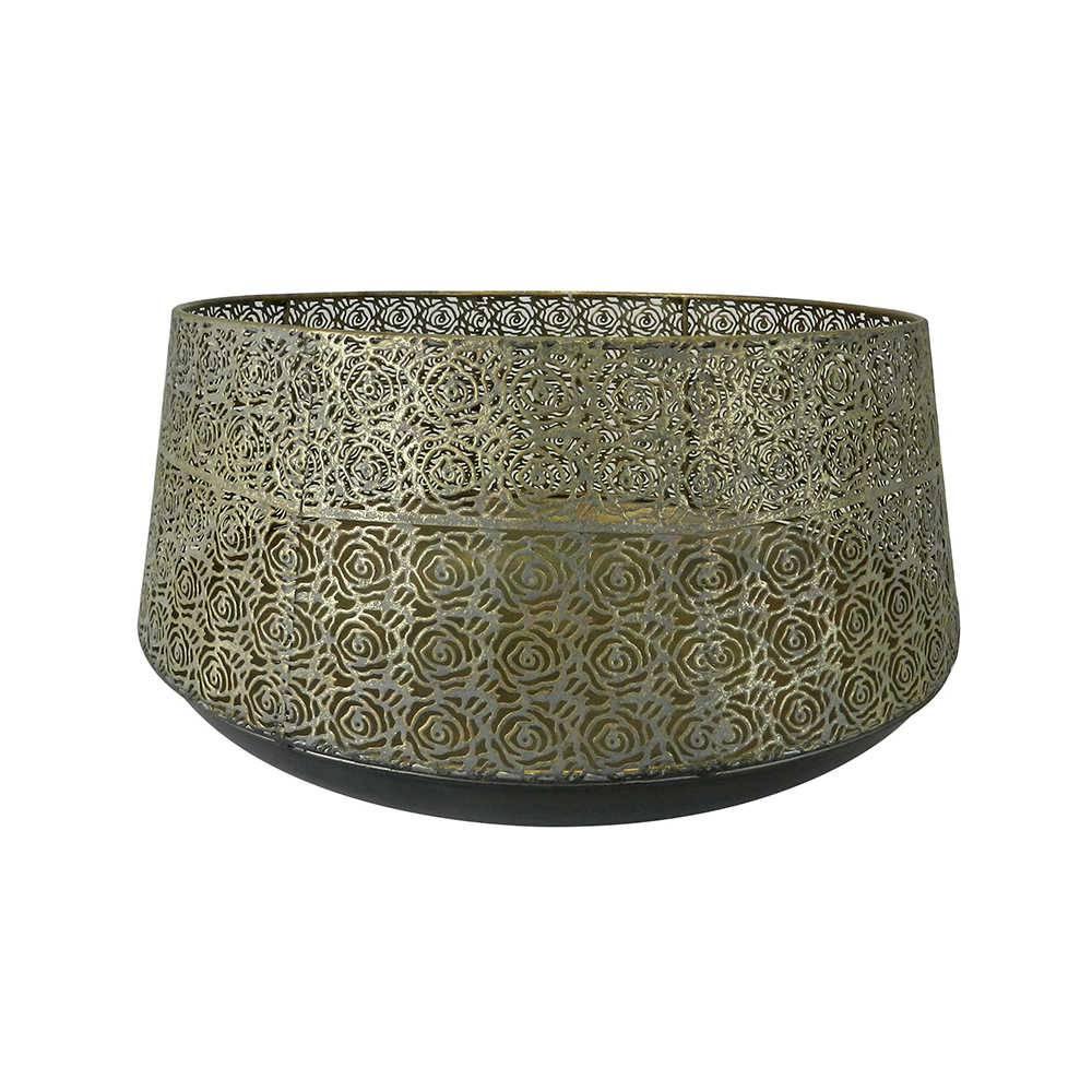 Candeeiro Garden Pequeno Dourado em Metal - 40x21 cm