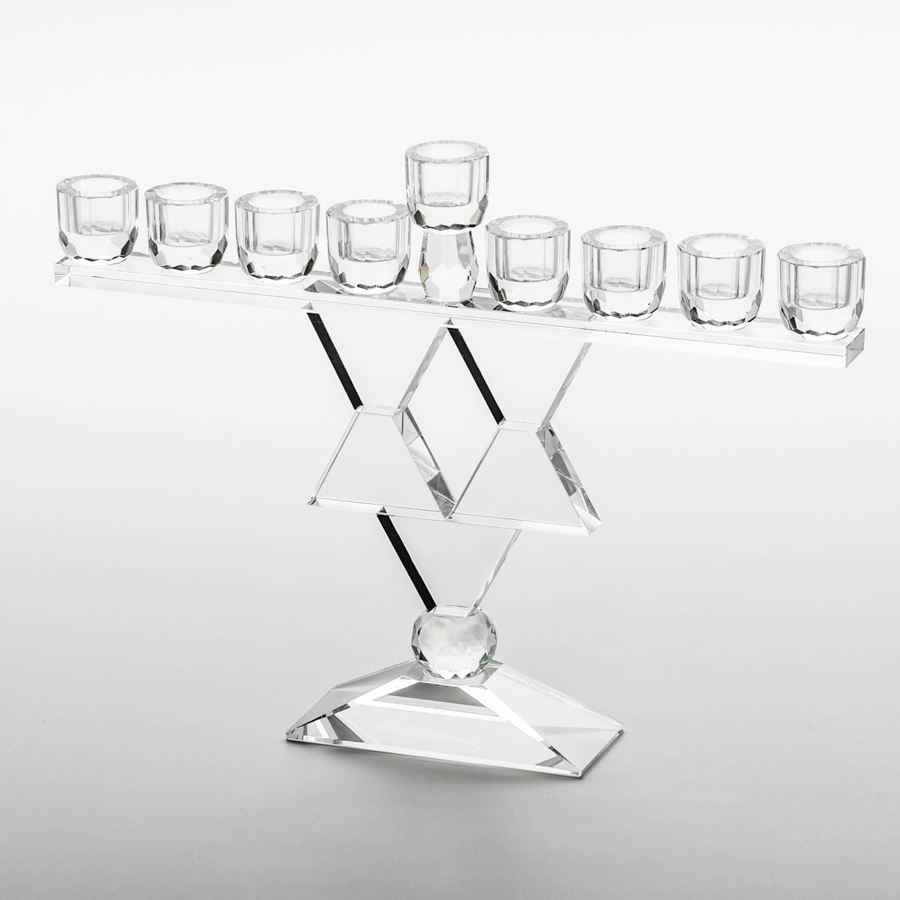 Candelabro Menorah Estrela de Davi - para 9 Velas - Prestige - 27 cm