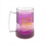 Caneca Beer - com Gel Térmico - Roxa em Acrílico - 14x12 cm
